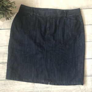 Old Navy Dark Wash Trouser Denim Skirt